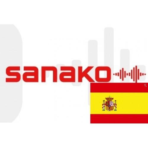 Голосовой словарь «Испанский язык» для Sanako Pronounce